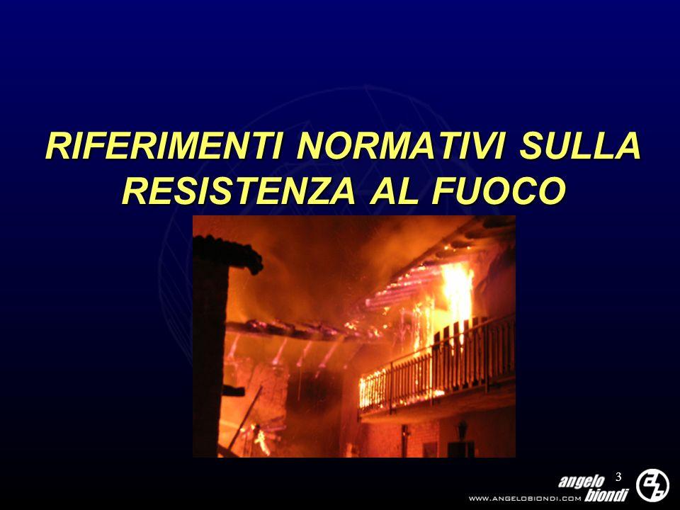 3 RIFERIMENTI NORMATIVI SULLA RESISTENZA AL FUOCO