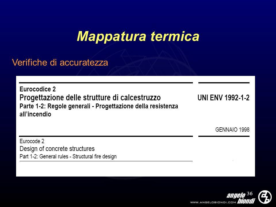 36 Mappatura termica Verifiche di accuratezza