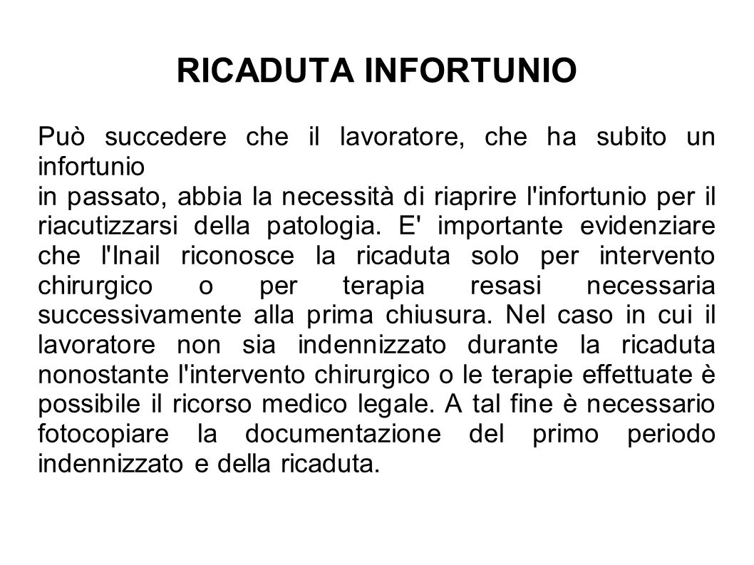 INFORTUNIO IN ITINERE (art.12 d.lgs.