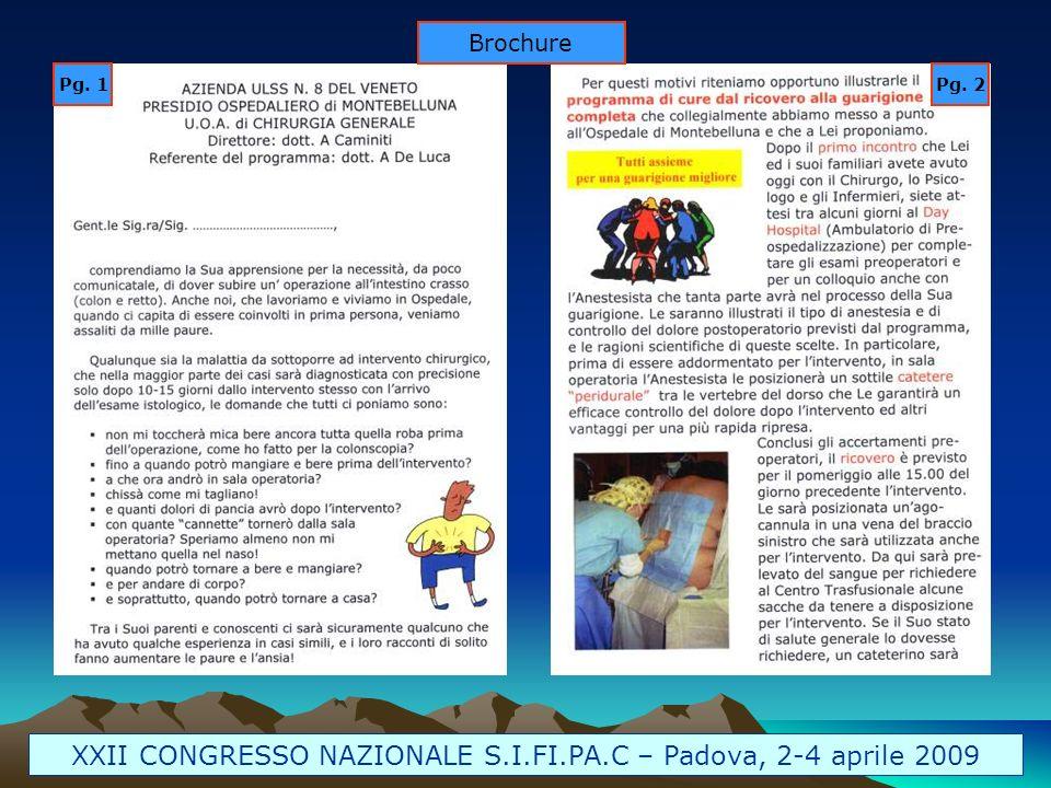 Brochure Pg. 1Pg. 2 XXII CONGRESSO NAZIONALE S.I.FI.PA.C – Padova, 2-4 aprile 2009