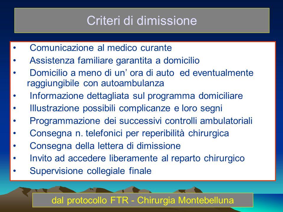 Comunicazione al medico curante Assistenza familiare garantita a domicilio Domicilio a meno di un ora di auto ed eventualmente raggiungibile con autoa
