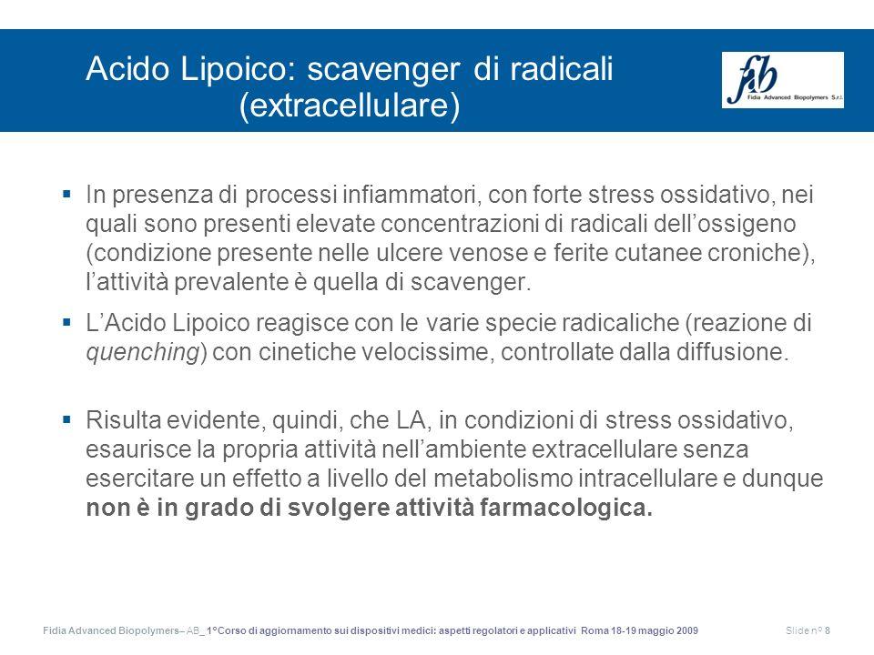 Fidia Advanced Biopolymers– AB_ 1°Corso di aggiornamento sui dispositivi medici: aspetti regolatori e applicativi Roma 18-19 maggio 2009Slide n° 8 Aci