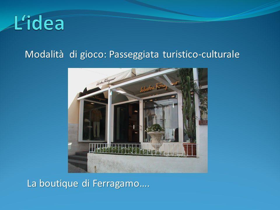 Modalità di gioco: Passeggiata turistico-culturale La boutique di Ferragamo….