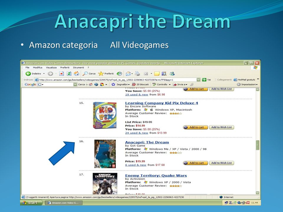 Amazon categoria All Videogames