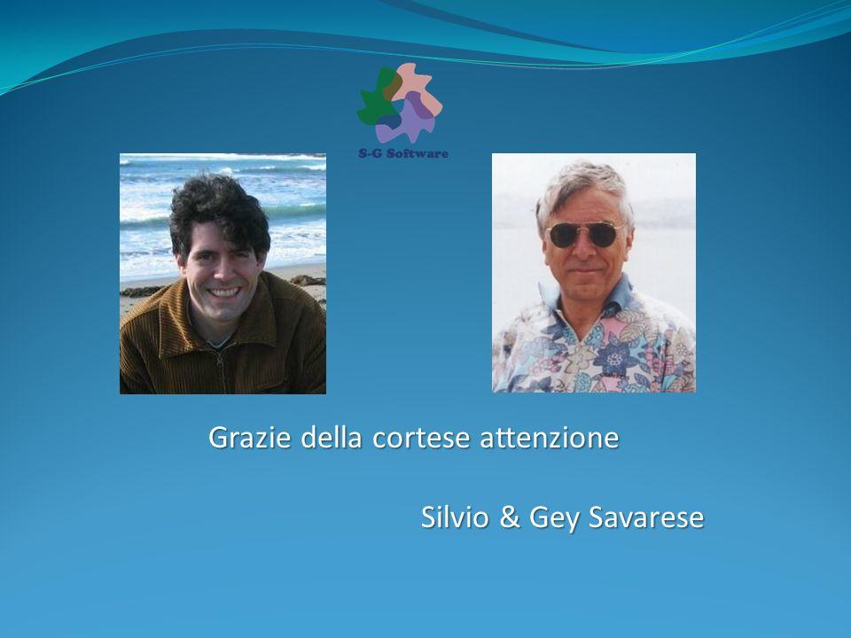 Grazie della cortese attenzione Silvio & Gey Savarese
