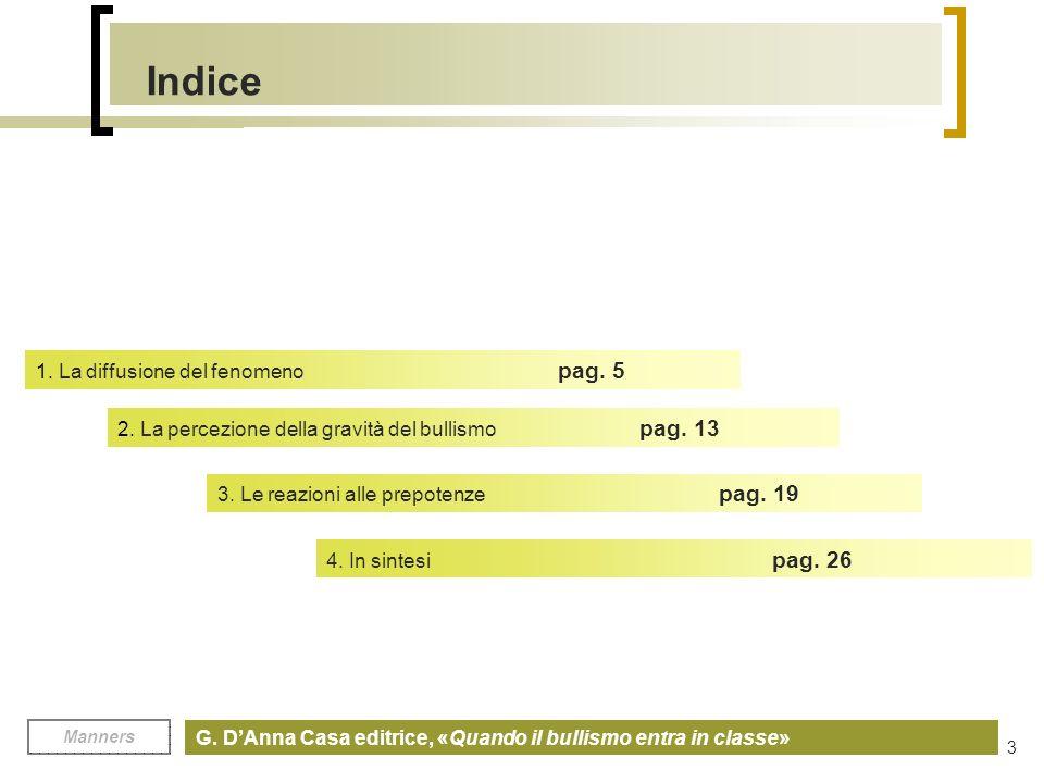 Manners G.DAnna Casa editrice, «Quando il bullismo entra in classe» 3 Indice 1.