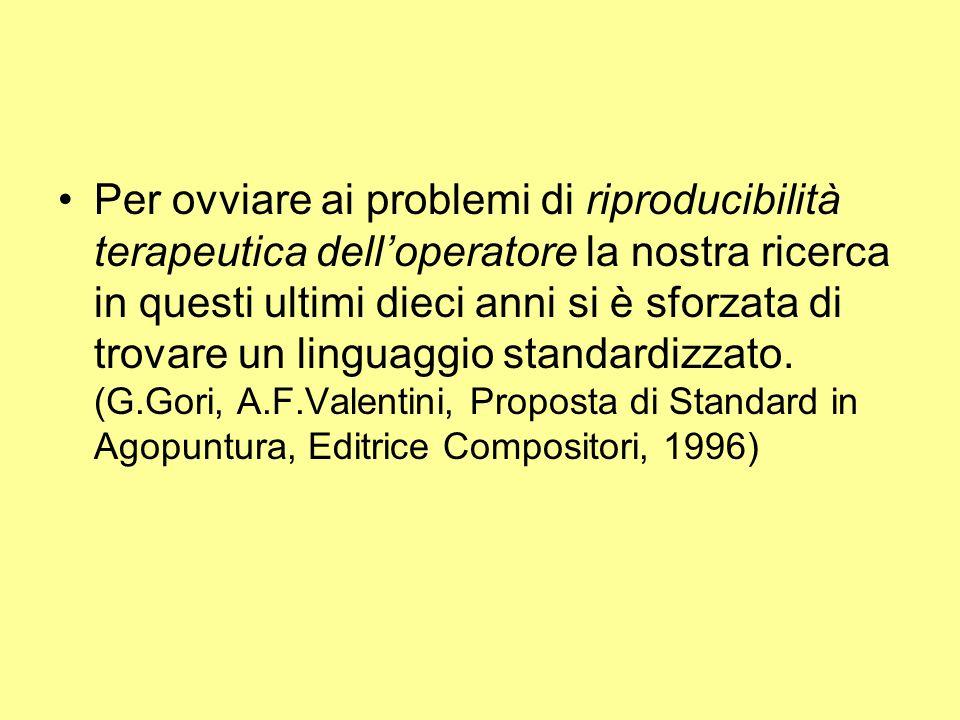 Per ovviare ai problemi di riproducibilità terapeutica delloperatore la nostra ricerca in questi ultimi dieci anni si è sforzata di trovare un linguag