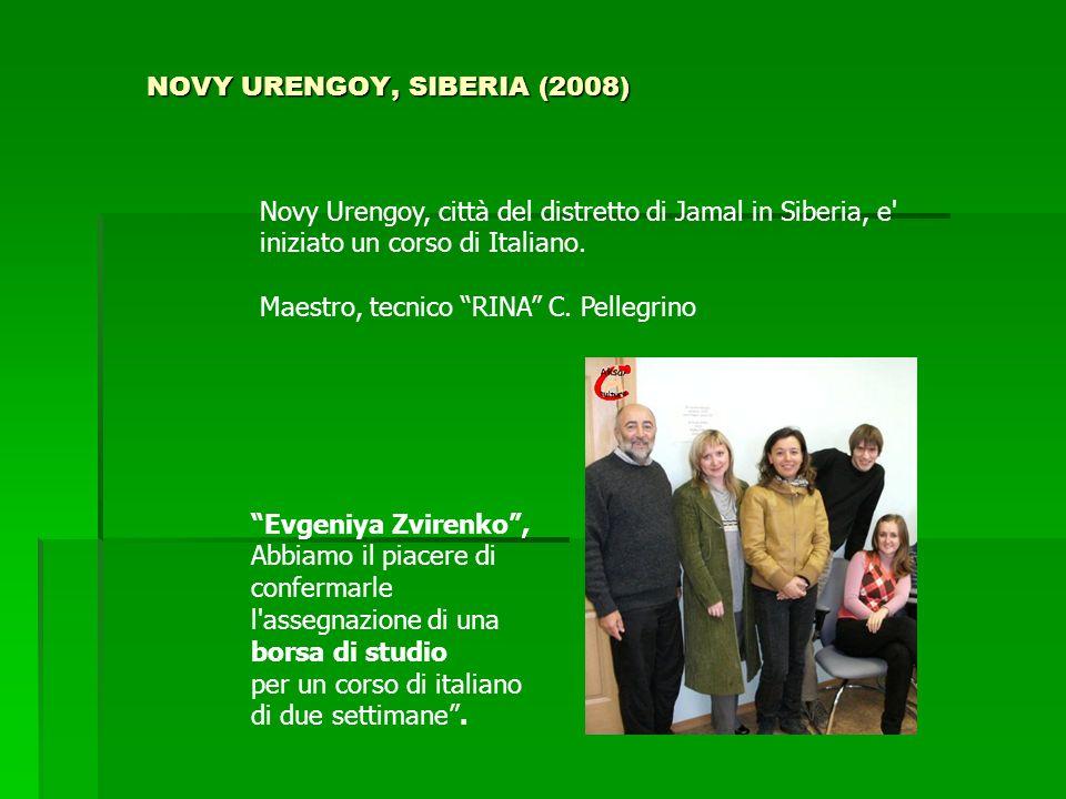NOVY URENGOY, SIBERIA (2008) Novy Urengoy, città del distretto di Jamal in Siberia, e' iniziato un corso di Italiano. Maestro, tecnico RINA C. Pellegr