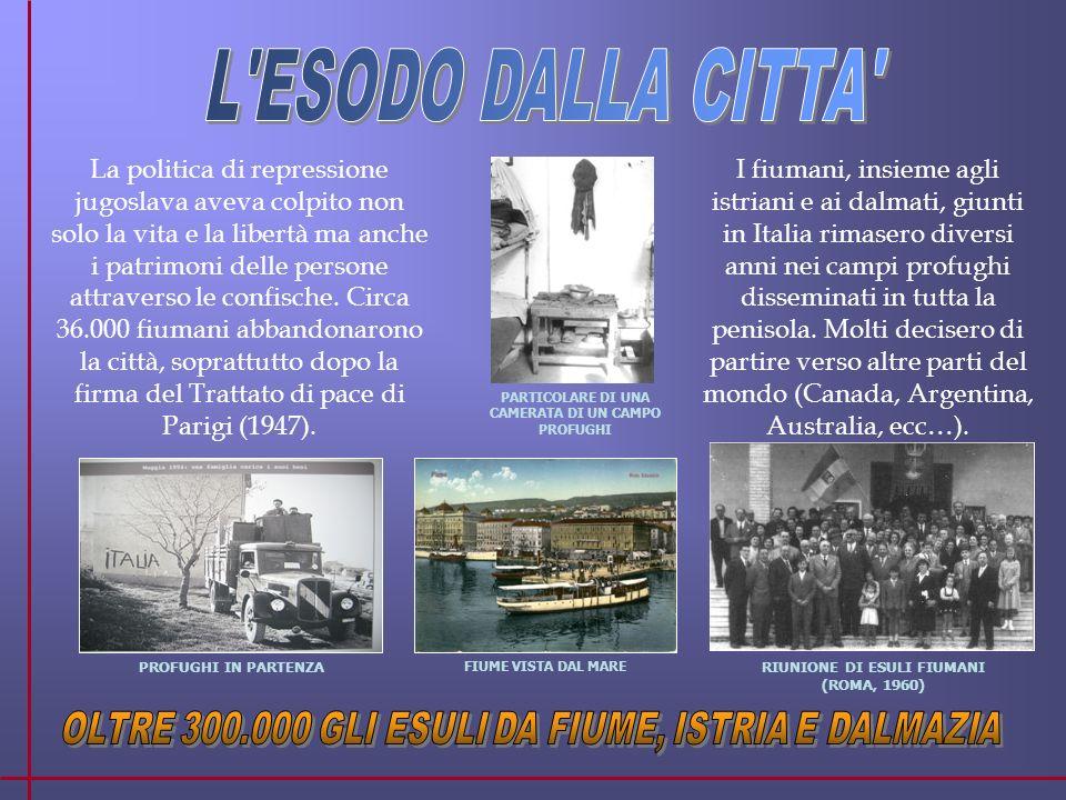 La politica di repressione jugoslava aveva colpito non solo la vita e la libertà ma anche i patrimoni delle persone attraverso le confische.
