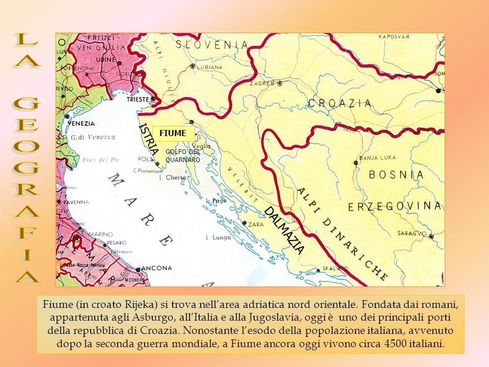 Fiume (in croato Rijeka) si trova nellarea adriatica nord orientale.
