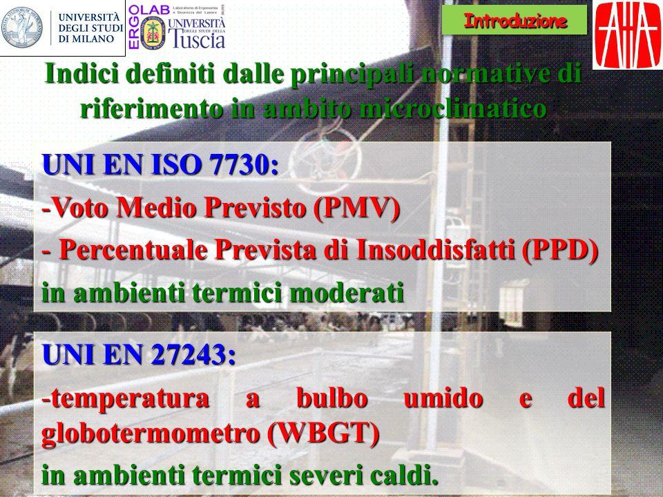 WBGT = 0,7 T NW + 0,3 T G Ambienti non soleggiati WBGT = 0,7 T NW + 0,2 T G + 0,1 T A Ambientisoleggiati Ambienti soleggiati WBGT è lacronimo di Wet Bulb Globe Temperature