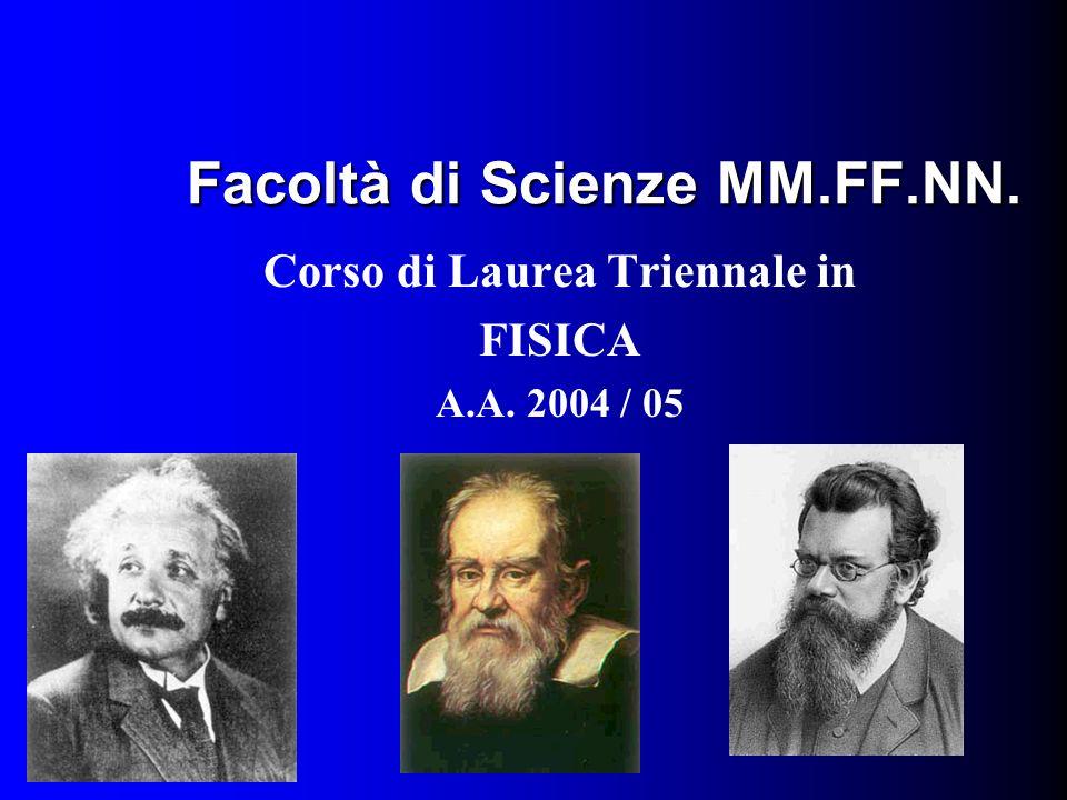 Facoltà di Scienze MM.FF.NN. Corso di Laurea Triennale in FISICA A.A. 2004 / 05