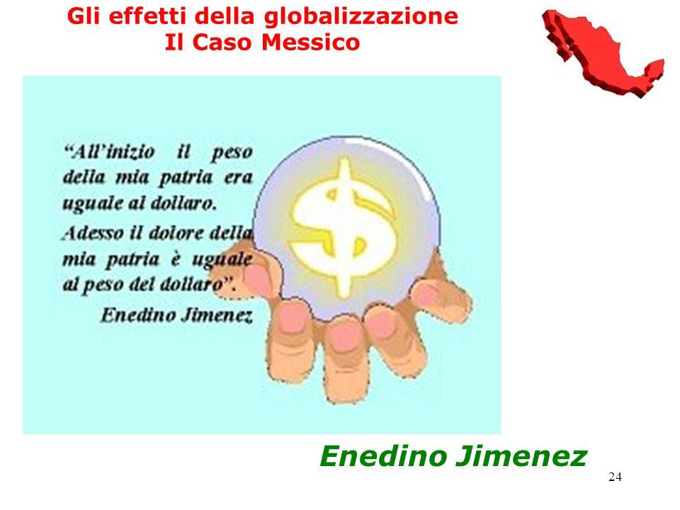 24 Gli effetti della globalizzazione Il Caso Messico Enedino Jimenez