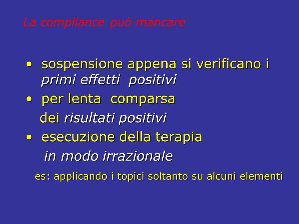 sospensione appena si verificano i primi effetti positivi sospensione appena si verificano i primi effetti positivi per lenta comparsa per lenta compa