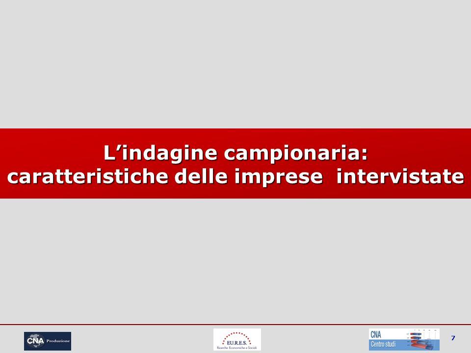 7 Lindagine campionaria: caratteristiche delle imprese intervistate