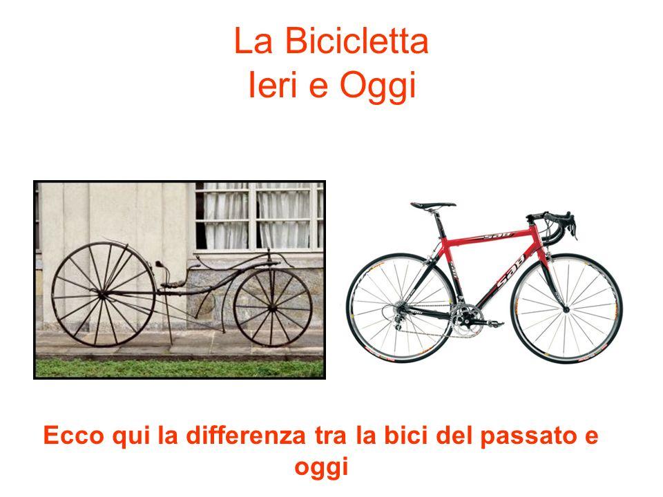 La Bicicletta Ieri e Oggi Ecco qui la differenza tra la bici del passato e oggi