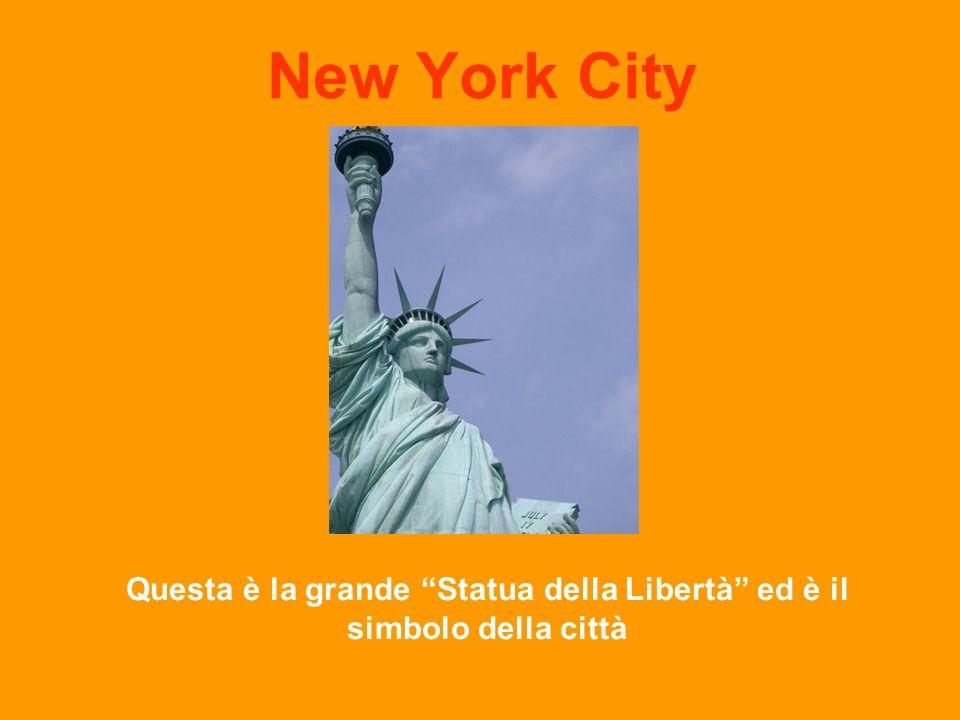 New York City Questa è la grande Statua della Libertà ed è il simbolo della città