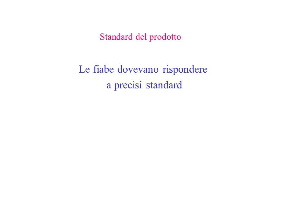 Standard del prodotto Le fiabe dovevano rispondere a precisi standard