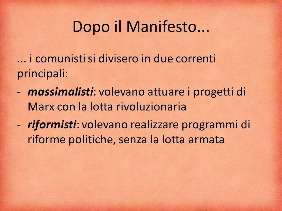 Dopo il Manifesto......
