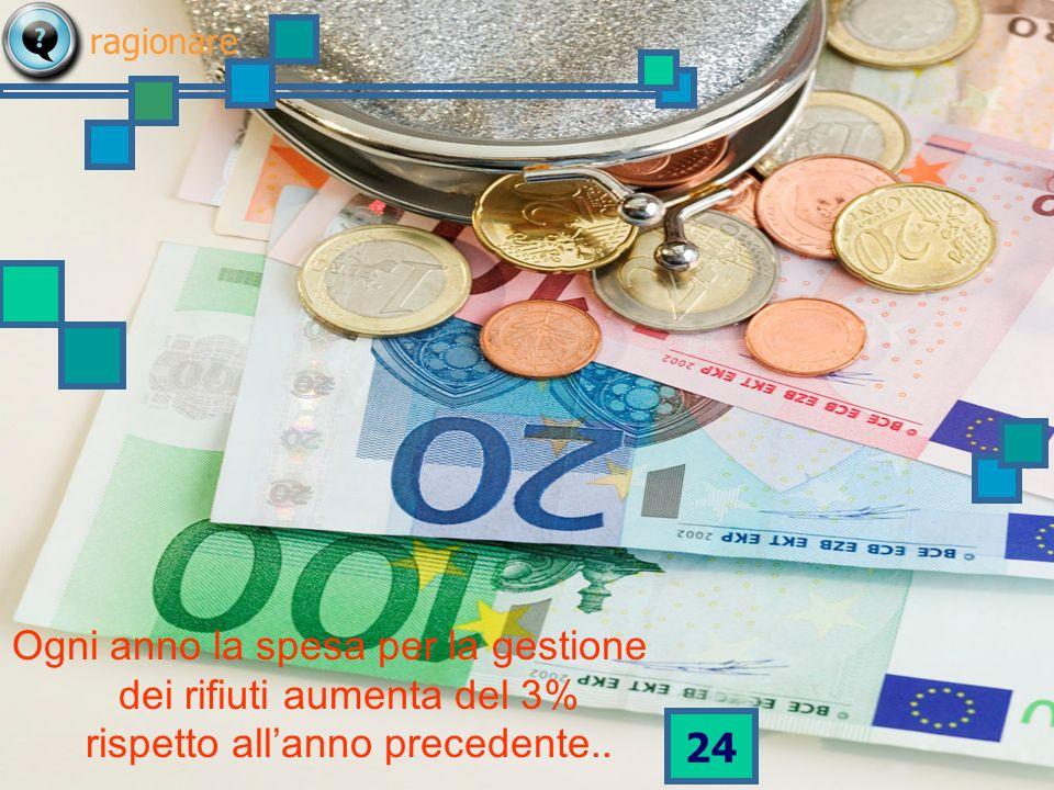 23 Sappiamo che ogni anno in Italia spendiamo più di 5 miliardi di euro per gestire i rifiuti urbani.