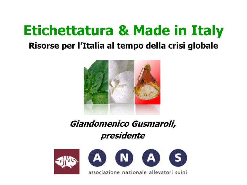 -Sicurezza alimentare -Qualità e gusto -Tradizione -Difesa del territorio -Turismo -Autosufficienza alimentare QUANDO SI NASCE ITALIANI QUANDO NON SI NASCE ITALIANI -Prezzo.