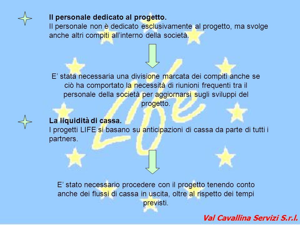 Val Cavallina Servizi S.r.l. Il personale dedicato al progetto. Il personale non è dedicato esclusivamente al progetto, ma svolge anche altri compiti