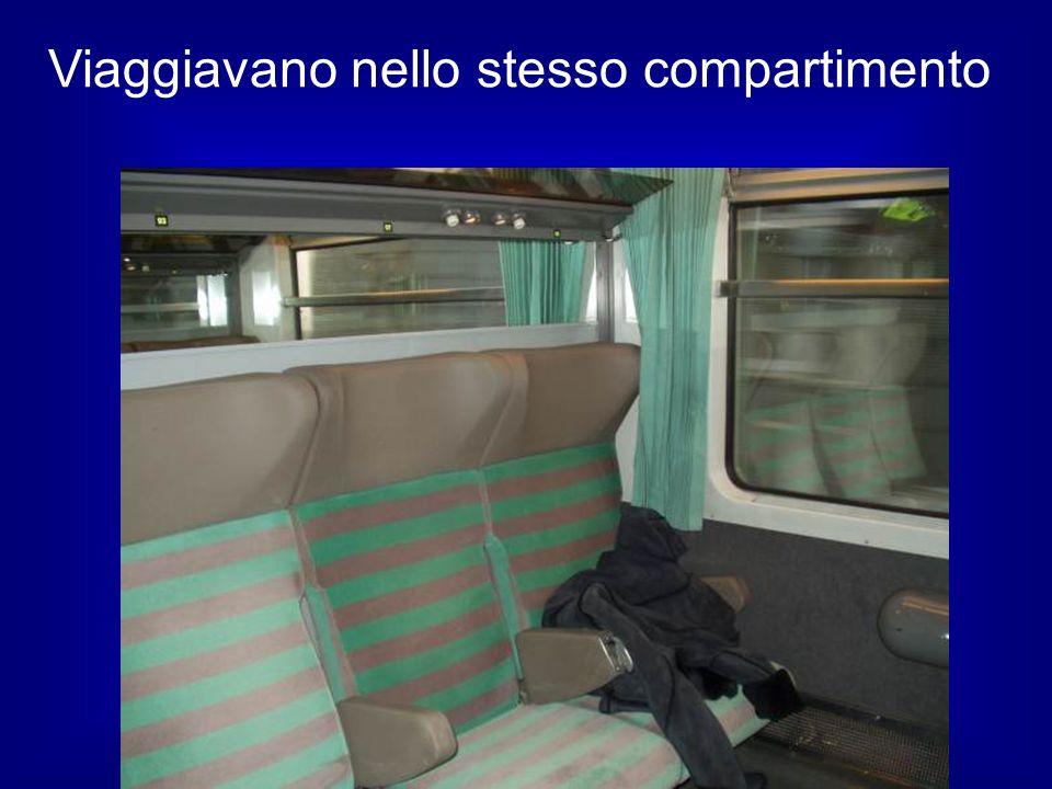 Viaggiavano nello stesso compartimento