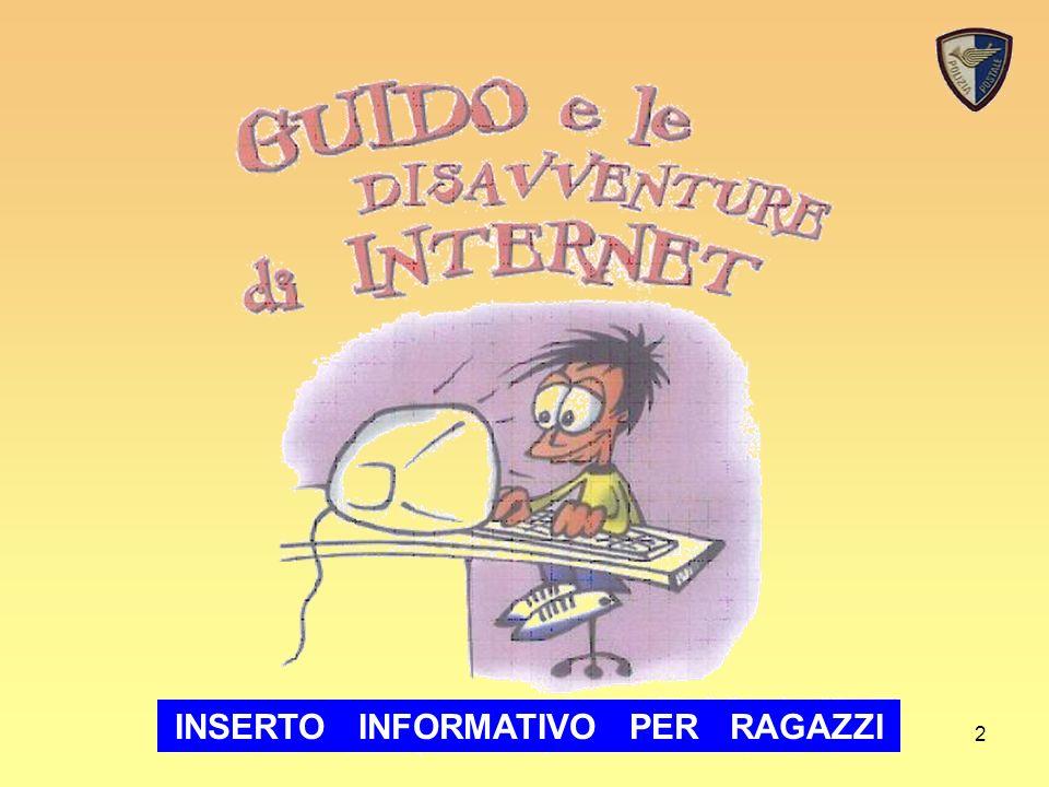 Sicurezza in rete2 INSERTO INFORMATIVO PER RAGAZZI