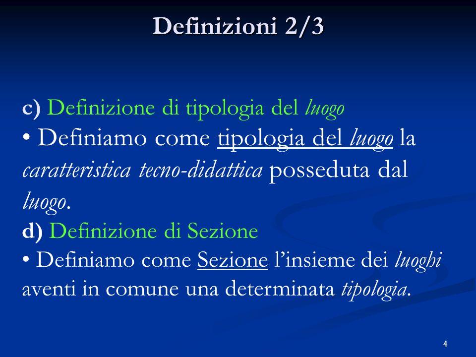 3 Definizioni 1/3 Definizioni 1/3 a) Definizione di intero CPFP Per intero CPFP intendiamo tutti i Corsi in presenza erogati presso un determinato CPFP.