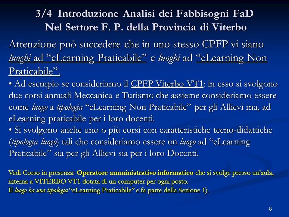 8 3/4 Introduzione Analisi dei Fabbisogni FaD Nel Settore F.