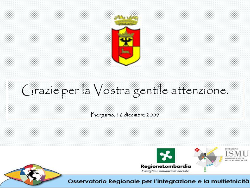 Grazie per la Vostra gentile attenzione. Bergamo, 16 dicembre 2009