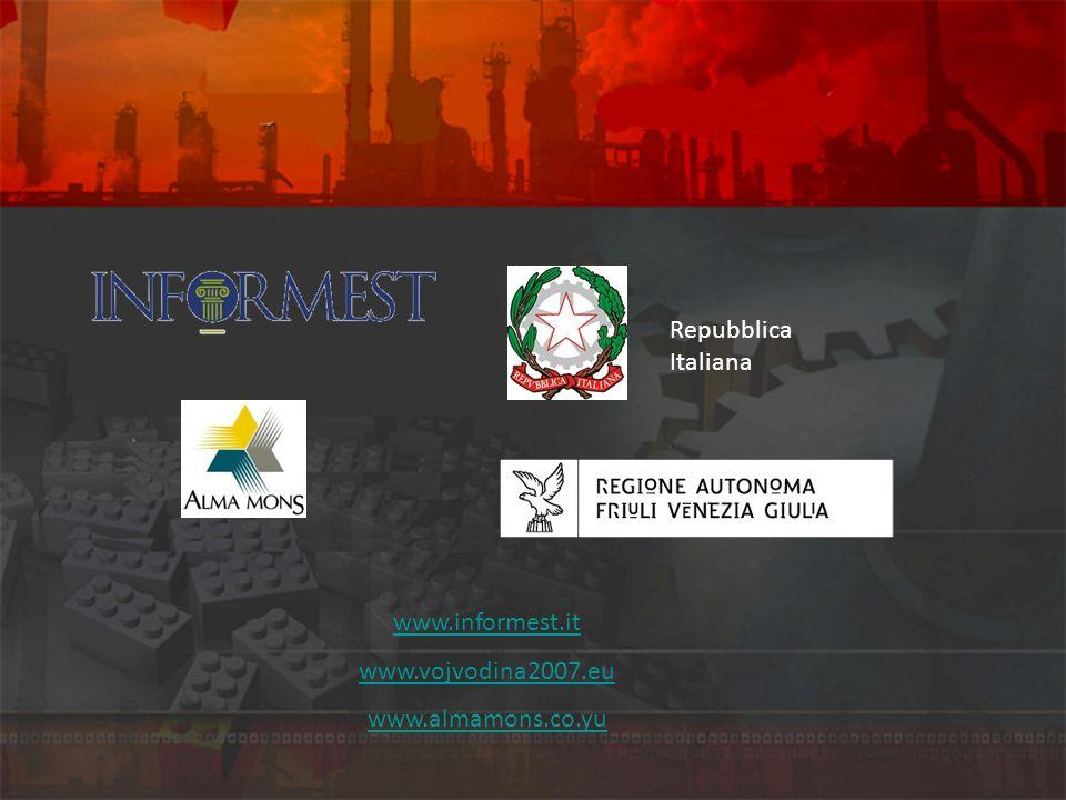 Repubblica Italiana www.informest.it www.vojvodina2007.eu www.almamons.co.yu