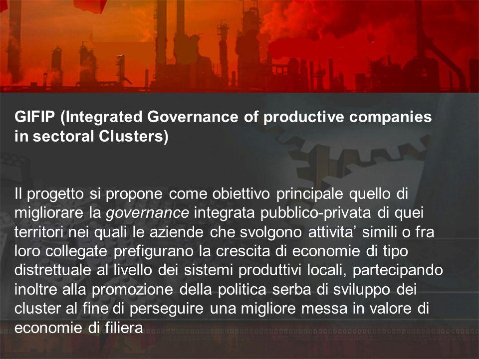 GIFIP (Integrated Governance of productive companies in sectoral Clusters) Il progetto si propone come obiettivo principale quello di migliorare la go