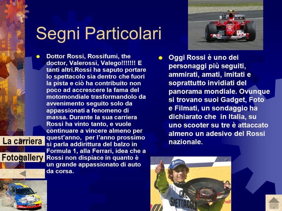 Valentino Rossi Numero: 46 Team: Gauloises Fortuna Yamaha Moto: Yamaha M1 Data e luogo di nascita: 16/02/1979, Urbino (Tavullia) Nazione: Italia Segni