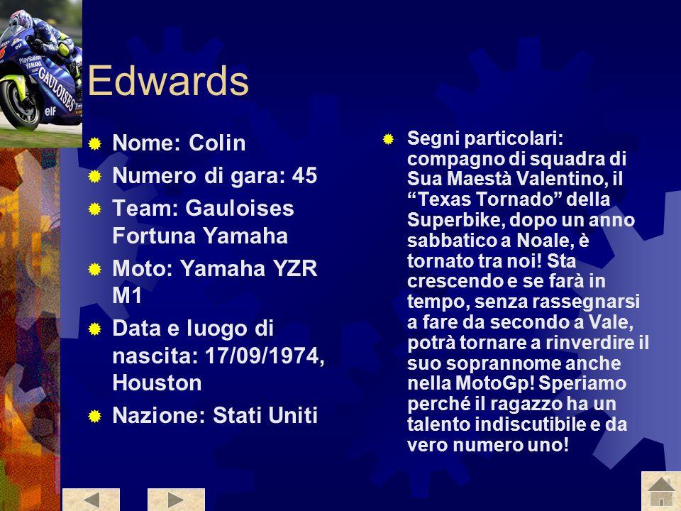 Tamada Nome: Makoto Numero di gara: 6 Team:Konica Minolta Honda Moto: Honda RC211v Data e luogo di nascita:04/11/1976, Ehime Nazione: Giappone Segni p