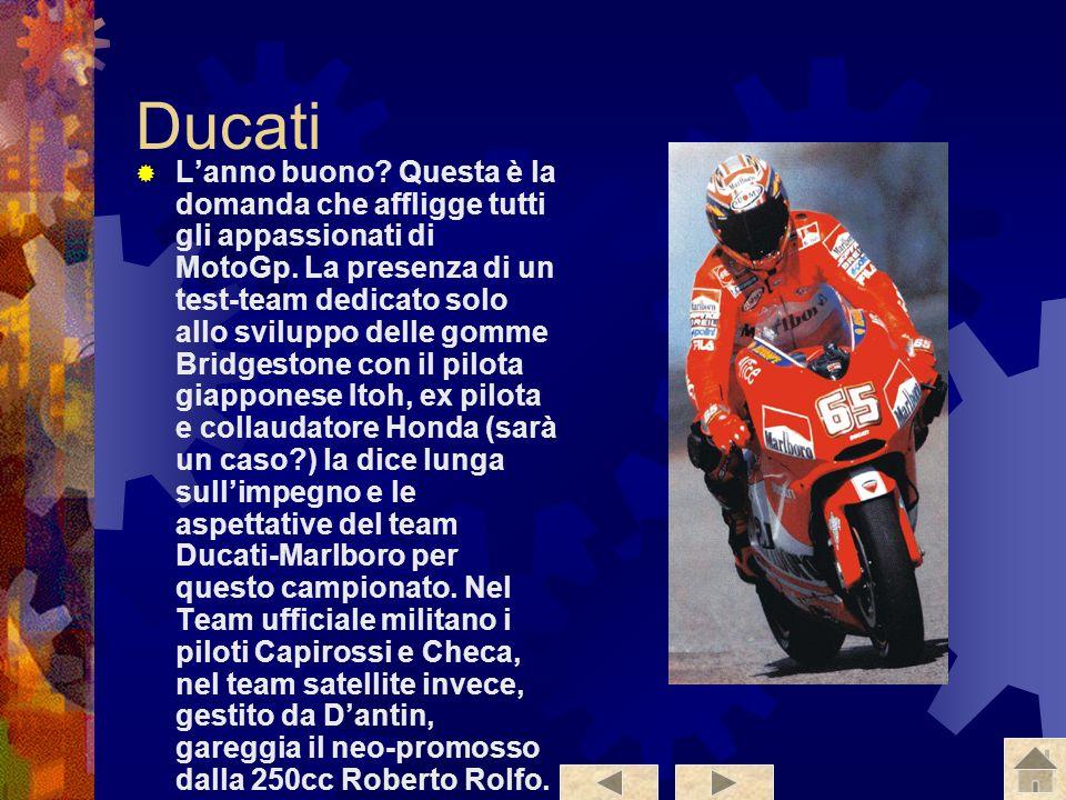 Blata WCM La Blata WCM è la squadra meno quotata per il titolo, vanta una moto Blata a scoppi irregolari con 6 cilindri a V. I piloti che corrono con