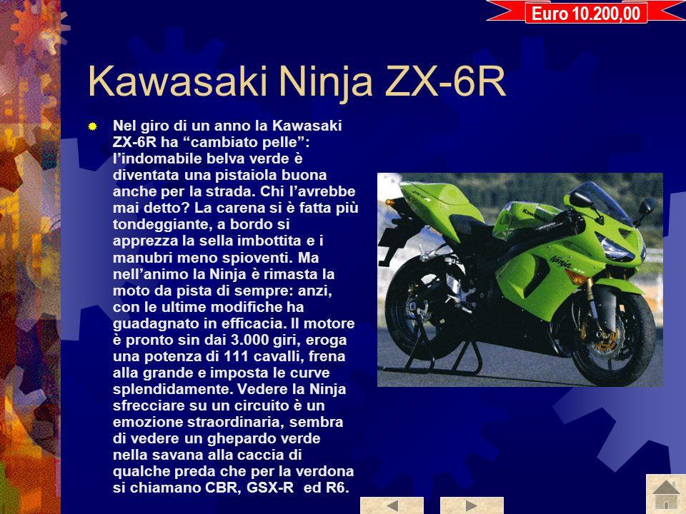 Suzuki GSX-R 600 La Suzuki è una moto compatta, ma allo stesso tempo comoda: i semimanubri sono poco inclinati, cè spazio abbondante per chi è alto e