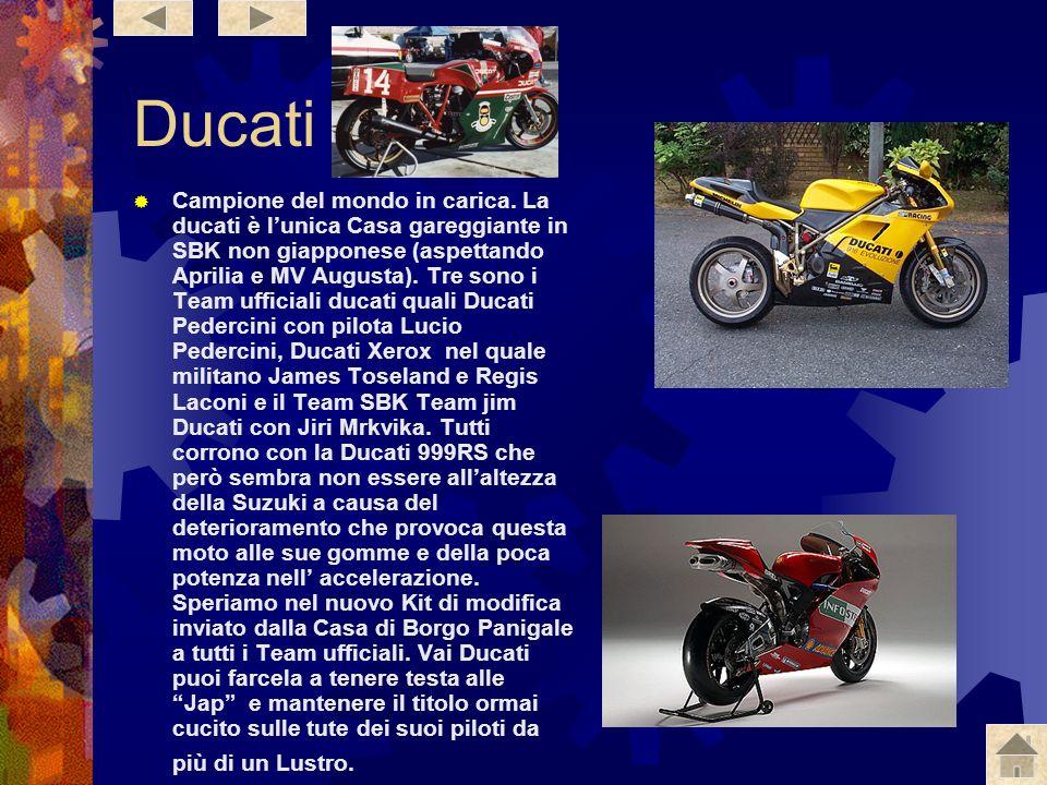 Honda Sicuramente dopo la lotta dellanno scorso ci si aspetta molto dalle Honda ufficiali del Team Den Kata, nonché dalla Ducati campione del mondo. L