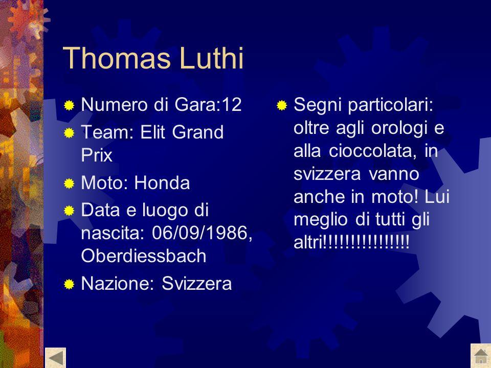 Fabrizio Lai Numero di Gara:32 Team: Metis Gilera Racing Moto:Gilera Data e luogo di nascita:14/12/1987 Cornaredo(mi) Segni particolari: giovincello d