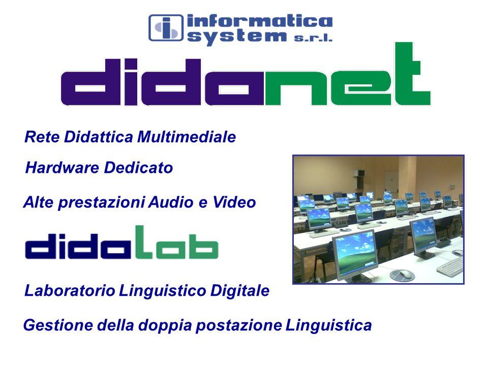 Rete Didattica Multimediale Laboratorio Linguistico Digitale Alte prestazioni Audio e Video Hardware Dedicato Gestione della doppia postazione Linguis