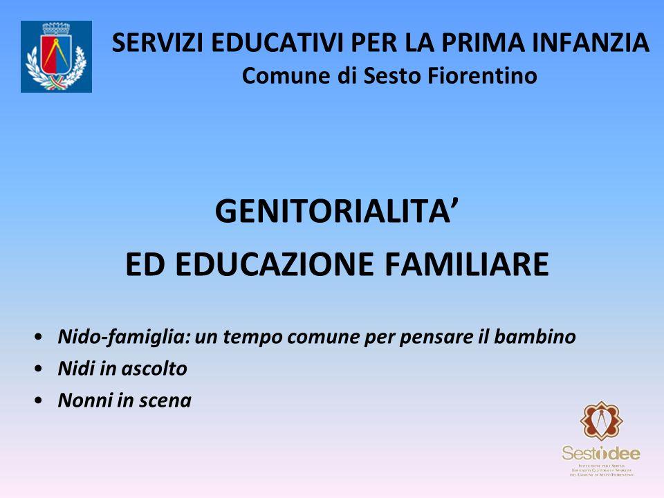 SERVIZI EDUCATIVI PER LA PRIMA INFANZIA Comune di Sesto Fiorentino GENITORIALITA ED EDUCAZIONE FAMILIARE Nido-famiglia: un tempo comune per pensare il