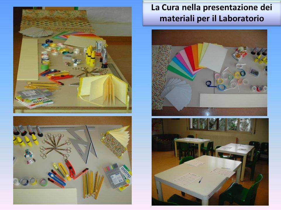 La Cura nella presentazione dei materiali per il Laboratorio