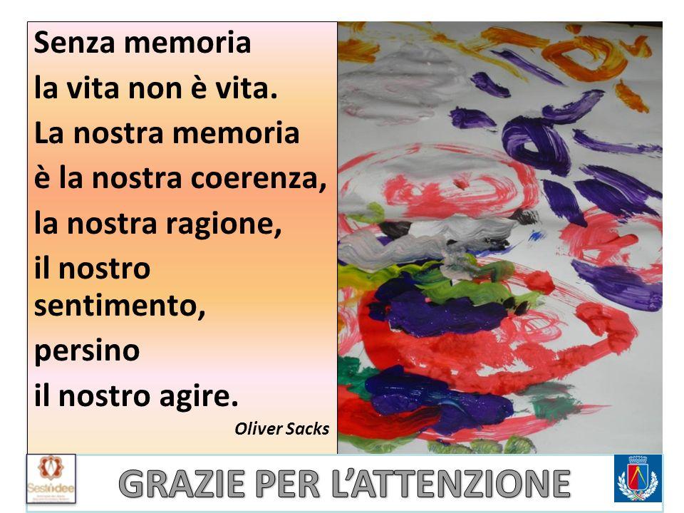 Senza memoria la vita non è vita. La nostra memoria è la nostra coerenza, la nostra ragione, il nostro sentimento, persino il nostro agire. Oliver Sac