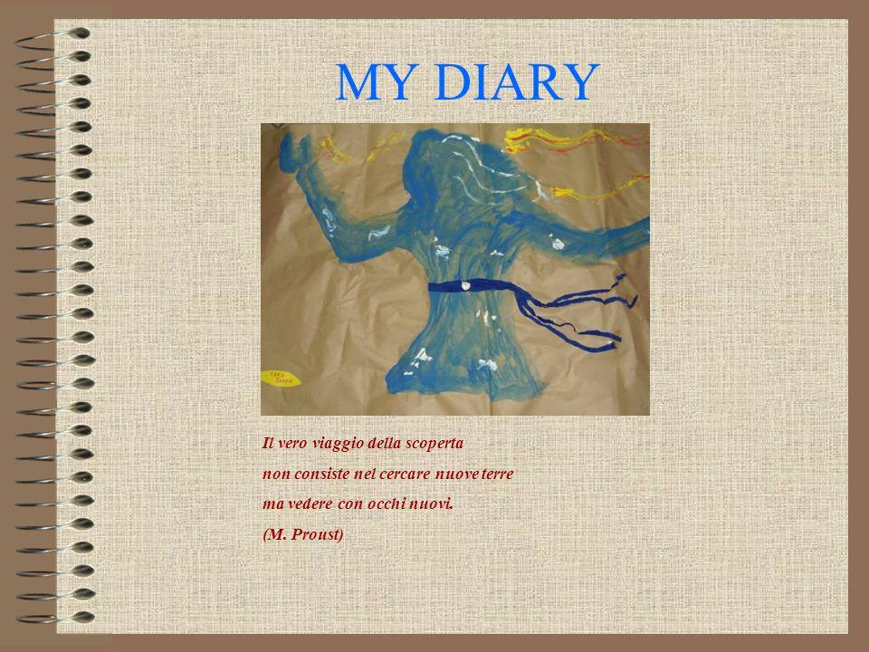 MY DIARY Il vero viaggio della scoperta non consiste nel cercare nuove terre ma vedere con occhi nuovi. (M. Proust)