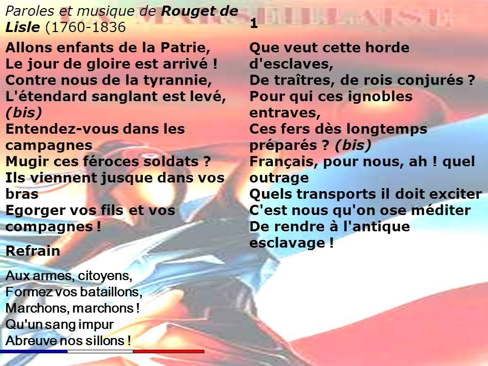La Marseillaise La Marseillaise Hymne National Français