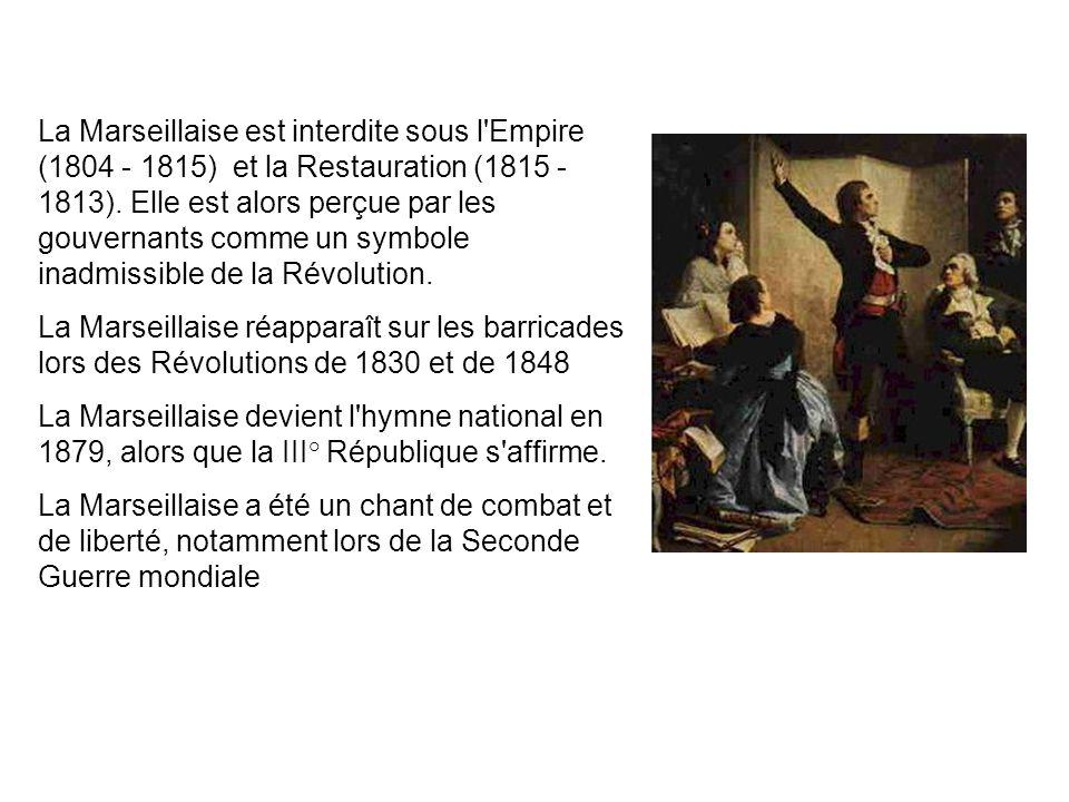 Histoire de la Marseillaise En avril 1792 l'Assemblée nationale française déclare la guerre à l'empereur d'Autriche. La situation militaire et politiq