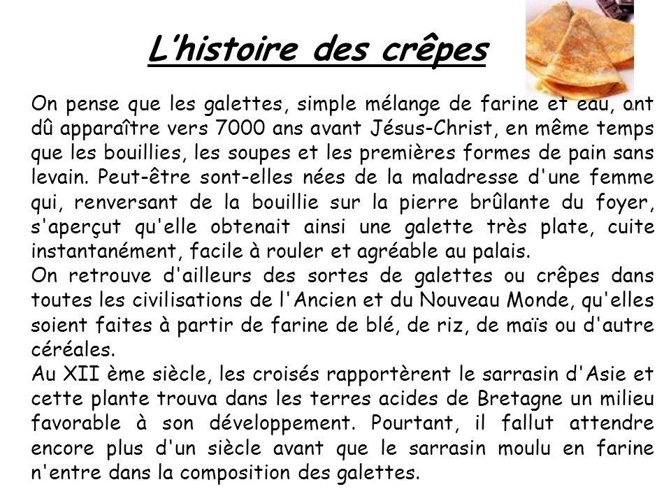 La recette de Crêpes Ingrédients : · 250 grammes de farine · 1 cuillère à soupe de sucre semoule · 2 sachets de sucre vanillé · 1 pincée de sel · 1/2