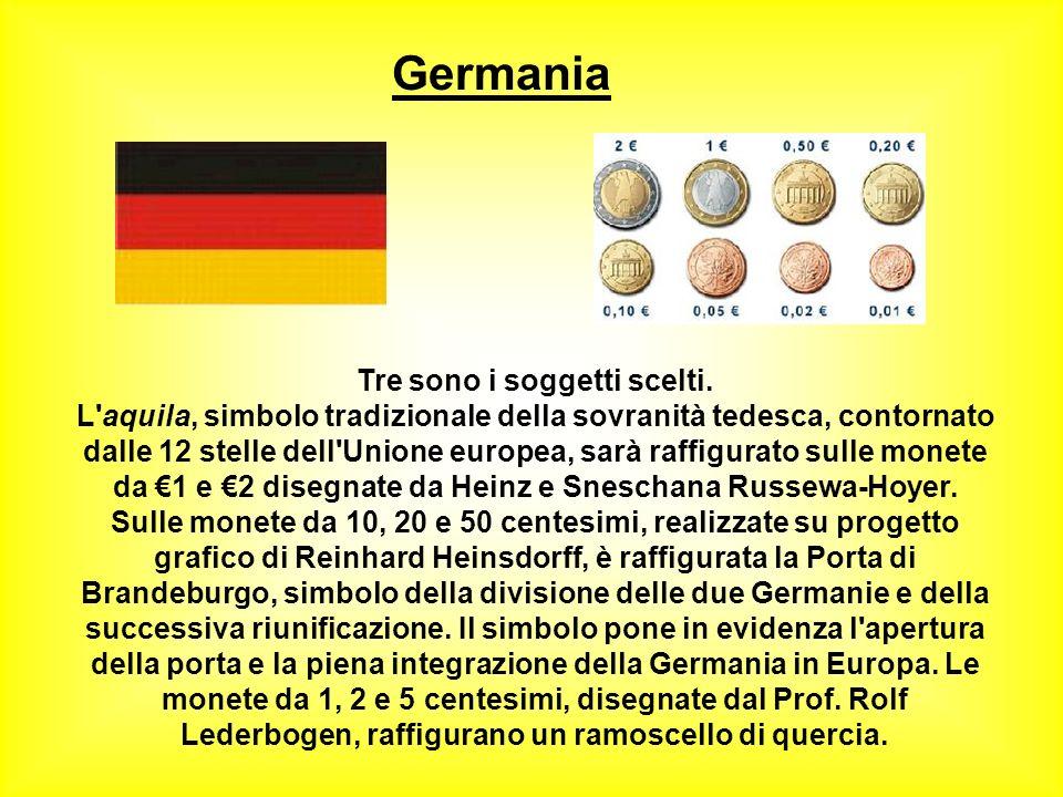 Francia Le monete in euro francesi riproducono tre soggetti. Al centro delle monete da 1 e 2, disegnate dall'artista Joaquim Jiminez, è riprodotto un