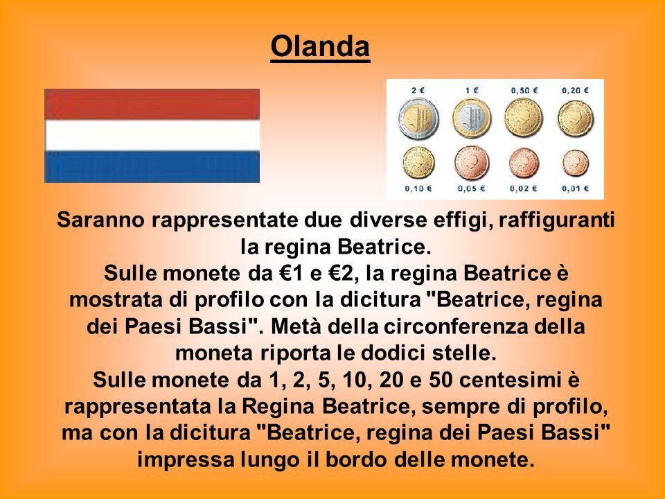 Lussemburgo Tutte le monete riporteranno l'effige di Sua Altezza Reale il Granduca Henri. Sarà anche riportato l'anno di emissione e il termine