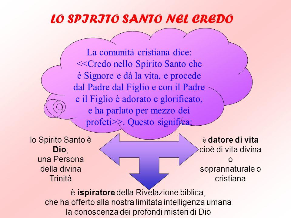 GLI APPELLATIVI DELLO SPIRITO SANTO Gesù, quando annunzia e promette la venuta dello Spirito Santo, lo chiama >, letteralmente: >, (Gv 14,16.26; 15,26
